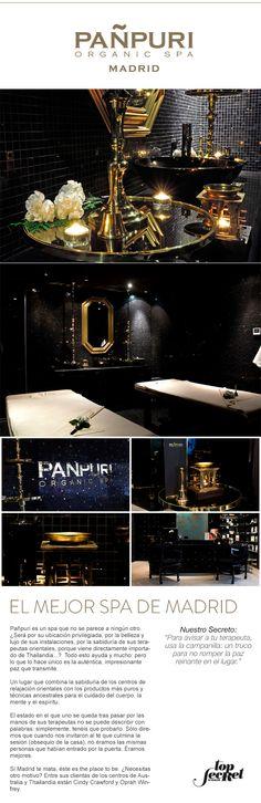 Pañpuri Organic Spa. El Mejor Spa de Madrid. Madrid.   #topsecretmadrid