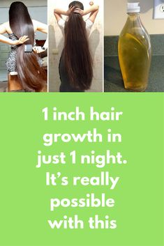1 inch hair growth in just 1 night. It's really possible with this Today I will share overnight hair growth mask that will not make your hair longer but will also make them silkier and stronger For this remedy you will need Aloe vera gel Coconut oil Castor oil Almond oil Olive oil Vitamin E oil What to do Add 1 table spoon of aloe vera gel in …