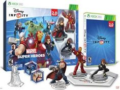 Disney INFINITY: Marvel Super Heroes (2.0 Edition) Video Game Starter Pack - Xbox 360 - Product Description Marvel super heroes starter pack includes: 1 Disney infinity 2.0 video game, 1 Disney infinity 2.0 base, 3 marvel super hero figures: iron man, thor and black widow 2 marvel super heroes tou box game discs, 1 marvels the avengers play set piece, 1 web code card, and 1 poster.