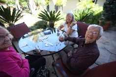 A friendly game in the gardens at Mission Terrace.