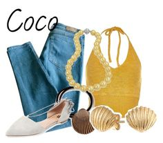 """Coco-Mermaids Melody"" by blueangel16-001 ❤ liked on Polyvore featuring Sandro, River Island, Pluie, Bling Jewelry and Ava & Aiden"