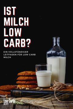 Dies ist ein vollständiger Leitfaden für Low Carb Milch und Milchalternativen. Er beantwortet viele Ihrer Fragen wie Ist Milch Low Carb? 100 ml Milch enthalten etwa 4,7 g Kohlenhydrate, was sie für die Keto Diät ungeeignet macht. Wenn Sie jedoch die Menge kontrollieren, können Sie die Milch mit Low Carb Diät verzehren. Low Carb, Keto, Food, Vitamins And Minerals, Milk, Healthy Food, Tips And Tricks, Food Food, Essen