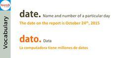 False friends: date / dato