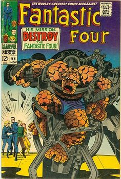 Fantastic Four Jack Kirby Stan Lee 1967 Marvel in Collectibles, Comics, Silver Age Superhero, Fantastic Four Marvel Comics Superheroes, Marvel Comic Books, Comic Books Art, Marvel Vs, Marvel Heroes, Captain Marvel, Comic Book Artists, Comic Book Characters, Comic Artist