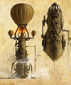 steampunk machines spaceship - Google zoeken