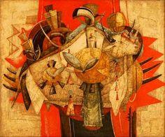 Graham's Fine Art Gallery - alexis preller - ritual bull South African Artists, Fine Art Gallery, Art Museum, Modern Contemporary, Cape Town, Graham, Masters, Artworks, Teen