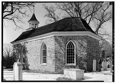 4.  GENERAL VIEW OF SIDE AND POLYGONAL REAR - Old Dutch Reformed Church, Albany Post Road (U.S. Route 9), Tarrytown, Westchester County, NY