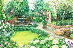 Gartengestaltung Sitzplatz Bauerngarten