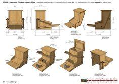 home garden plans: CF _ Chicken Feeder Plans Construction - How To Build A Chicken Feeder