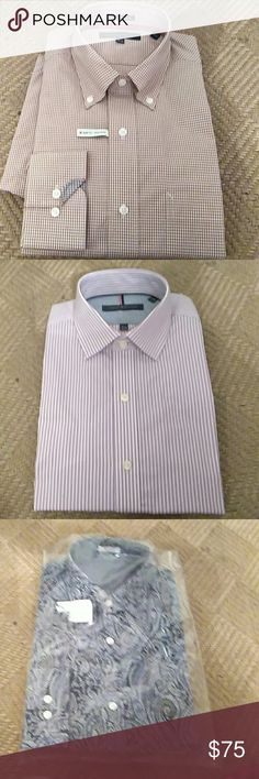 Tommy Hilfiger LS  15.5 shirts Up for sale are 3 brand new Tommy Hilfiger 15 and 1/2 in long sleeve shirts Fair 2016 fall and Summer shirts and they are brand new Tommy Hilfiger Shirts Dress Shirts