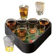 Found it at Wayfair - Game Night 11 Piece Billiards Shot Glass Set