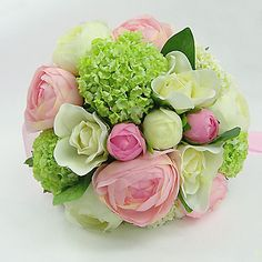 peonies and petals Green Wedding, Wedding Flowers, Wedding Day, Decoration Evenementielle, Peonies And Hydrangeas, Flower Studio, Different Flowers, Bouquets, Pink And Green