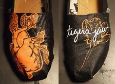 Tigers Jaw Hand Painted Toms Shoes by AlexaCanvas on Etsy
