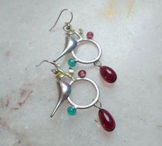 Handmade Jewelry Metal Earrings Bird on A Branch by CandanImrak