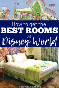 How to get the best resort hotel rooms at Walt Disney World. Get the room you want with a room request, book a guaranteed room category, and more tips for your Disney World vacation. Best Disney World Resorts, Disney World Vacation Planning, Disney Hotels, Walt Disney World Vacations, Disney Planning, Best Resorts, Disney Travel, Trip Planning, Map Of Disney World