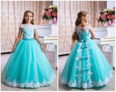 Brides think of finding the most appropriate wedding ceremony, but for this they require the most perfect bridal wear, with the bridesmaid's dresses complimenting the wedding brides dress. Here are a few tips on wedding dresses. Turquoise Flower Girl Dress, Girls Blue Dress, Turquoise Flowers, Girls Dresses, Flower Girl Dresses, Dress Girl, Flower Girls, Turquoise Color, Elegant Dresses
