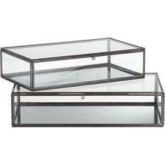 December 2012 - Lonny Magazine - Lonny- Crate & Barrel glass boxes