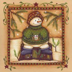 snowman decoupage