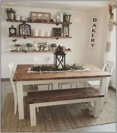 Popular Farmhouse Wall Decor Design Ideas for Dining Room ✓ - Farmhouse furnishings is a wonderful means to carry a welcoming contact to your residence. room wall decor ideas Popular Farmhouse Wall Decor Design Ideas for Dining Room ✓ Farmhouse Dining Room Table, Dining Room Wall Decor, Farmhouse Wall Decor, Dining Room Design, Decor Room, Home Decor, Farmhouse Ideas, Modern Farmhouse, Dinning Room Ideas