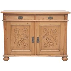 Preowned Jugendstiel Or Art Nouveau Cabinet In Pine (126.880 RUB) ❤ liked on Polyvore featuring home, furniture, storage & shelves, cabinets, brown, art nouveau furniture, pine wood furniture, art nouveau cabinet, brown's furniture and locking key cabinet