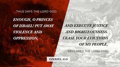 I'm reading Ezekiel 45:9