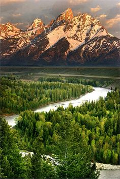 """The Grand Tetons -- and remembering """"that first time"""".  Laid eyes on this spectacular sight for the first time when hubby and I took a cross country trip in '85.  NC mountains are gorgeous, but these are massive!  Been back several times since, but nothing like experiencing them for the first time!"""