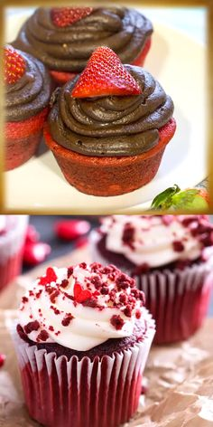 Whip up a batch of the Best Red Velvet Cupcakes to celebrate with the best Valentine's Day cupcakes. Whip up a batch of the Best Red Velvet Cupcakes to celebrate with the best Valentine's Day cupcakes. Valentine Desserts, Valentine Day Cupcakes, Christmas Desserts, Christmas Cupcakes, Kids Christmas, White Christmas, Red Velvet Cupcakes, Cupcakes Au Cholocat, Fluffy Cupcakes