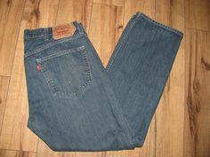 Levis 501 Mens Levi Blue Jeans 38X32 Regular Fit Straight Leg Button Fly #Levis #RegularFitStraightLeg