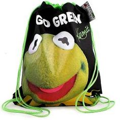 The Muppets Drawstring Shoe Bag [Kermit]$14.99 want it, please!