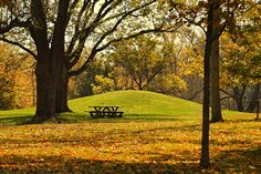 Large Burial Mound off the side of the serpent. — at Serpent Mound. Landmark Peebles, Ohio