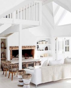 HOW BEAUTIFUL!! - LOVE THE GORGEOUS NATURAL WOOD TRIM - LOOKS SO FABULOUS WITH THE 'ALL WHITE' THEME!! #️⃣