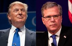 Donald Trump and Jeb Bush are in the lead of a packed field of Republican contenders for the Republican Party Presidential nomination for the 2016 Elections, according to a poll done by Reuters-Ipsos released this Saturday. #uspolitics
