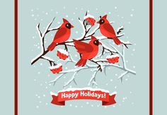 "Cardinals - Merry Christmas Welcome Door Mat 18""x26"" -- Awesome products selected by Anna Churchill"