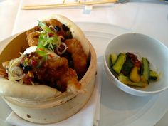 Soft-shell crab bao from chef Scott Drewno, The Source, Washington, D.C.