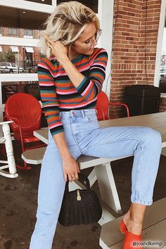 Product Name:Ribbed Knit Striped Sweater, Category:sweater, Price:19.9