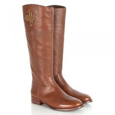 Tory Burch Tan Kiernan Women's Knee High Boot
