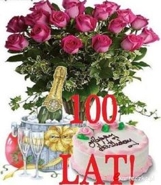 100 lat Happy Birthday Happy Birthday Maria, Happy Birthday Wishes, Emoji Pictures, Rose Bouquet, Special Day, Diy And Crafts, The 100, Birthdays, Birthday Cake