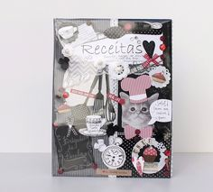 Álbum de Receitas by Chria Handmade Art www.chria.com.br