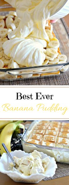 Best Ever Banana Pudding Crisp bananas, pudding and shortbread treats meet up in only a couple of minutes to shape this scrumptious no-prepare dessert ensured to satisfy a gr… Oreo Pudding, Bannana Pudding, Jello Pudding Desserts, Best Banana Pudding, Banana Pudding Recipes, Vanilla Pudding Mix, Dessert Recipes, Gluten Free Banana Pudding Recipe, Chocolate Banana Pudding