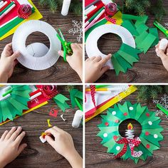 Paper Chain Rainbow wall hanging made from construction paper, original design Christmas Art Projects, Christmas Arts And Crafts, Handmade Christmas Decorations, Christmas Crafts For Gifts, Preschool Christmas, Christmas Activities, Christmas Tree Ornaments, Christmas Diy, Preschool Crafts