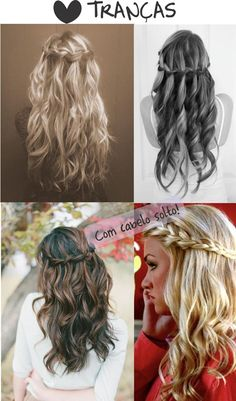 penteado-com-trança-e-cabelo-solto