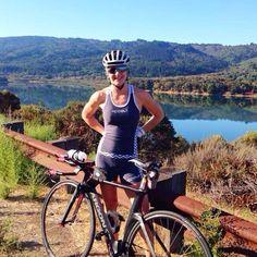 @haileyaurora rocking her chevron tri kit over the weekend on a bike ride in NorCal! #stylishspeed #triathlon #apparel