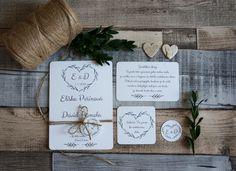 Svatební+oznámení+rustik+Tisk+na+kvalitní+papír+se+strukturou+vprofesionální+tiskárně.+Cena+bez+zdobení+provázkem.+Úprava+textu+na+přání.+Na+výběr+z+mnoha+druhů+písma.+Na+přání+Vám+ráda+vyrobím+i+jiné+svatební+tiskoviny. Dream Party, Wedding Ideas, Boho, Bohemian, Wedding Ceremony Ideas