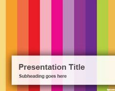 Vertical Colorful Bars PowerPoint Template