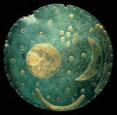 The Amazing Sky Calendar That Ancients Used to Track Seasons - POSTED BY CLAUDIA BRACHOLDT  - Caption: The Nebra Sky Disk photographed in Basel, Switzerland, in 2006 - Dbachmann via Wikipedia
