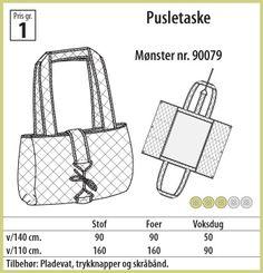 Stof & Stil - Pusletaske - 90079 Mønster!