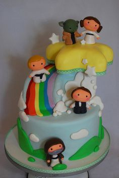 Baby Star Wars Shower Cake by Sweet Fix, via Flickr