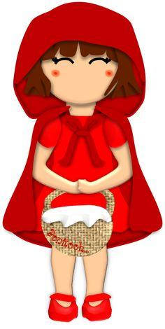 CAPERUCITA lleva la canasta que le dio su mama,llena de comida para la abuelita, que esta enferma.