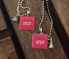 Scrabble iFLY pendant necklaces: the girls will by MyFamsJewels