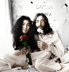 "On this day, March 25th 1969, John and Yoko stage their bed-in for peace."" Drove from Paris to the Amsterdam Hilton. Talking in our beds for a week. The newspapers said, say what you doing in bed? I said, were only trying to get us some peace"""